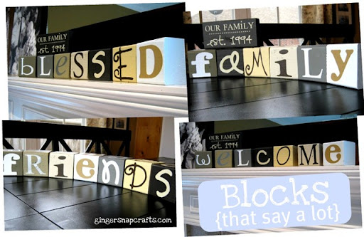 blocks that say a lot